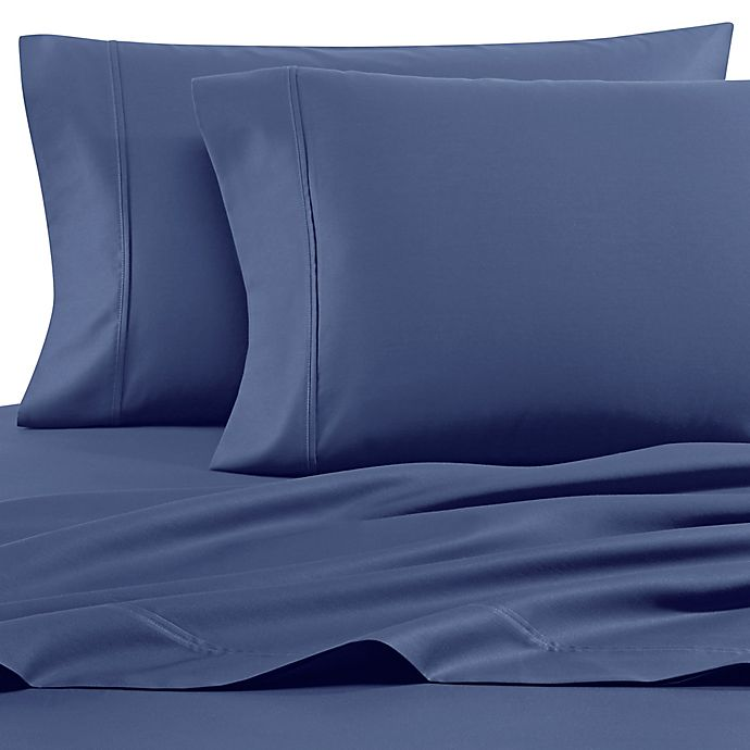 Alternate image 1 for Heartland® HomeGrown™ 400-Thread-Count King Pillowcases in Blue (Set of 2)