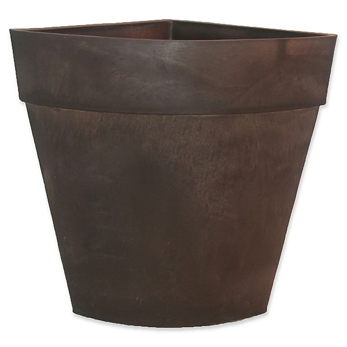 Alternate image 1 for Arcadia Garden Traditional Corner Planter in Chocolate