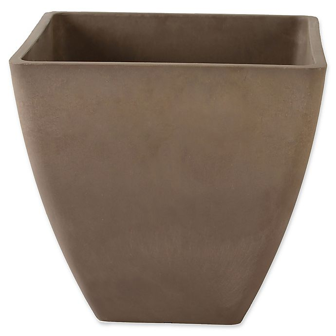 Alternate image 1 for Arcadia Garden Simplicity Square Planter in Taupe