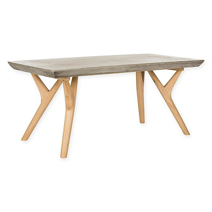 Alternate image 1 for Safavieh Pacey Indoor/Outdoor Concrete Coffee Table in Dark Grey