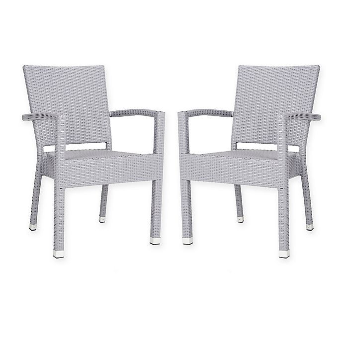 Prime Safavieh Kelda Outdoor Stacking Chairs Set Of 2 Gmtry Best Dining Table And Chair Ideas Images Gmtryco