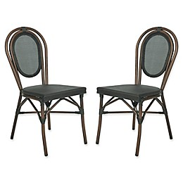 Safavieh Ebsen All-Weather Side Chairs in Black (Set of 2)