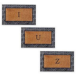 Home & More Prestige Monogram Letter Door Mat in Silver