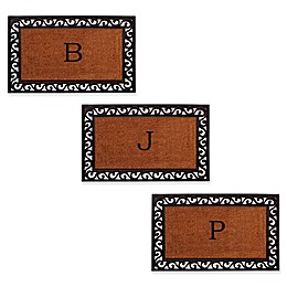 Home & More Rembrandt Monogram Letter Door Mat