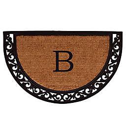 Home & More Ornate Scroll Monogram Letter 18-Inch x 30-Inch Slice Door Mat