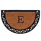 Home & More Ornate Scroll Monogram Letter  E  18-Inch x 30-Inch Slice Door Mat