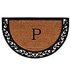 Home & More Ornate Scroll Monogram Letter  P  18-Inch x 30-Inch Slice Door Mat