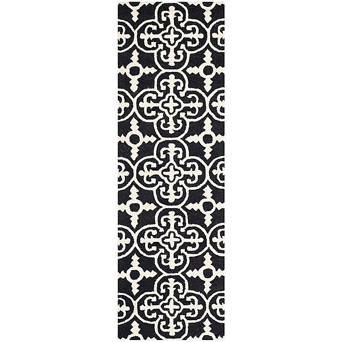 Alternate image 1 for Safavieh Cambridge 2-Foot 6-Inch x 8-Foot Ava Wool Rug in Black/Ivory