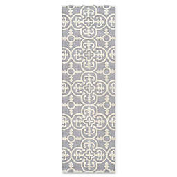 Safavieh Cambridge 2-Foot 6-Inch x 18-Foot Ava Wool Rug in Silver/Ivory
