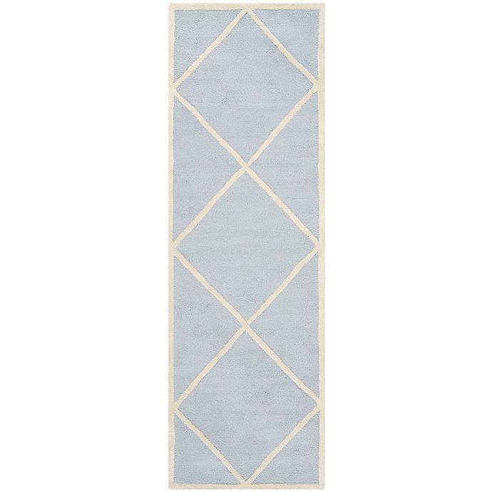 Alternate image 1 for Safavieh Cambridge 2-Foot 6-Inch x 6-Foot Zara Wool Rug in Light Blue/Ivory