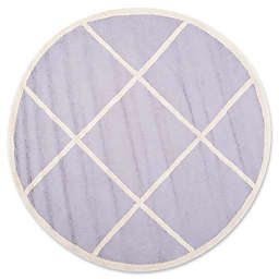 Safavieh Cambridge Zara 6' Round Handcrafted Area Rug in Lavender/Ivory