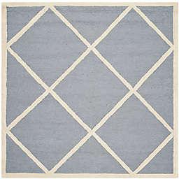 Safavieh Cambridge Zara 8' Square Handcrafted Area Rug in Silver/Ivory