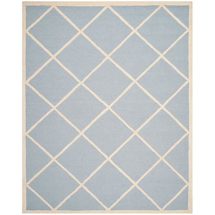 Alternate image 1 for Safavieh Cambridge 8-Foot x 10-Foot Zara Wool Rug in Light Blue/Ivory