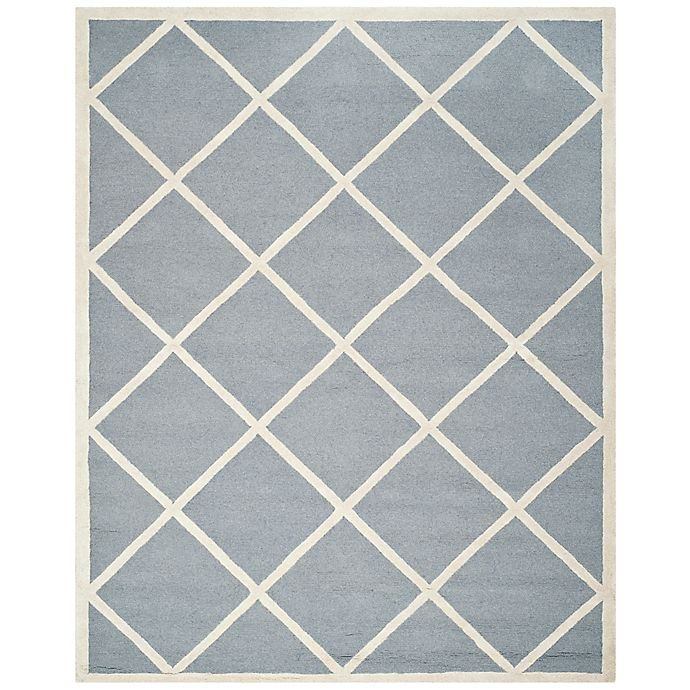 Alternate image 1 for Safavieh Cambridge 8-Foot x 10-Foot Zara Wool Rug in Silver/Ivory