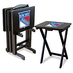 NHL TV Tray Table Set with Storage Rack Collection