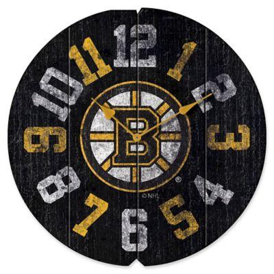 Nhl Boston Bruins Vintage Round Wall Clock Bed Bath Amp Beyond