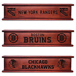 NHL 20-Inch Memorabilia Shelf Collection in Brown