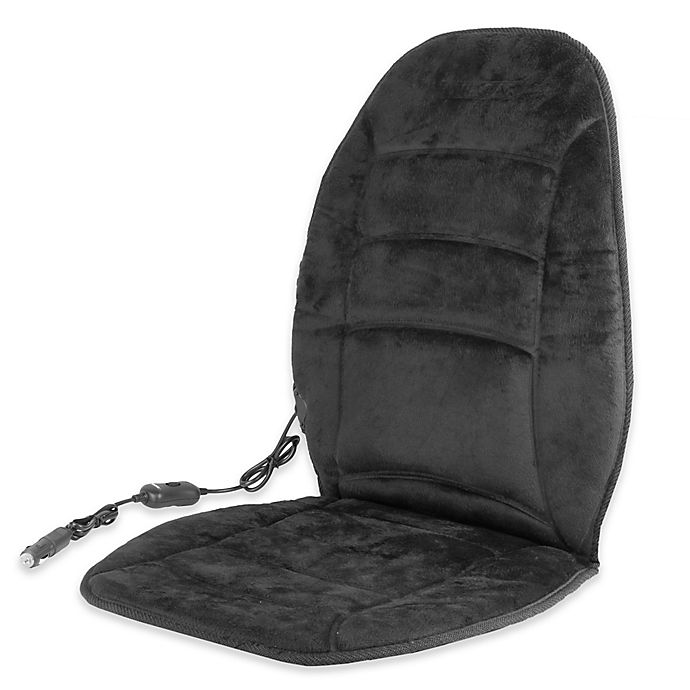 Alternate image 1 for Wagan Deluxe Velour Heated Seat Cushion in Black
