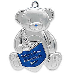 Silverplated Baby's First Hanukkah Ornament with Swarovski® Crystal Accents