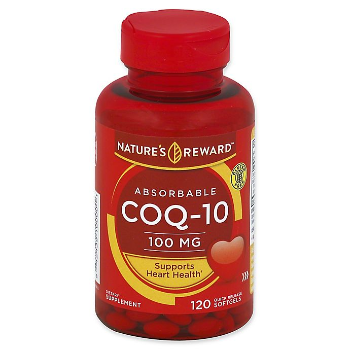 Alternate image 1 for Nature's Reward 120-Count 100 mcg Absorbable CoQ-10 Quick Release Softgels