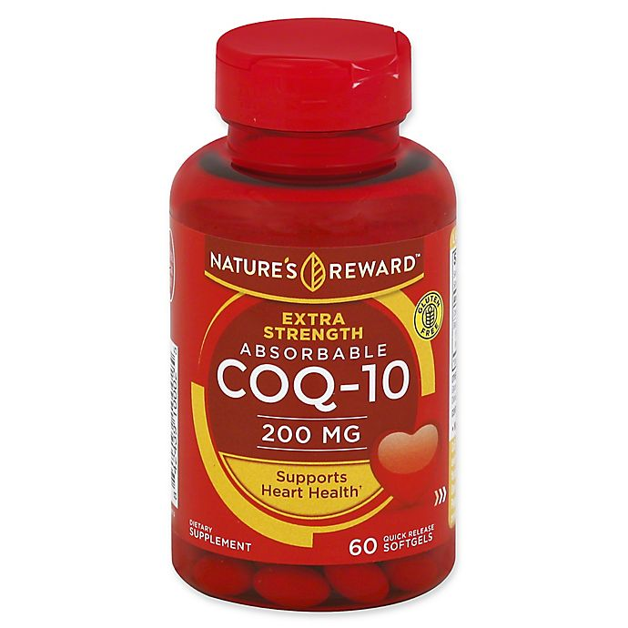 Nature S Reward 60 Count 200 Mcg Extra Strength Absorbable Coq 10
