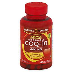 Nature's Reward 60-Count 400 mcg Maximum Strength Absorbable CoQ-10 Quick Release Softgels