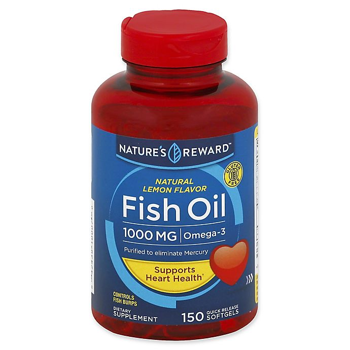 Alternate image 1 for Nature's Reward 150-Count 1000 mcg Fish Oil Quick Release Softgels in Natural Lemon Flavor