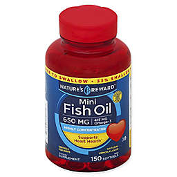 Nature's Reward 150-Count 650 mcg Mini Fish Oil Softgels in Natural Lemon Flavor