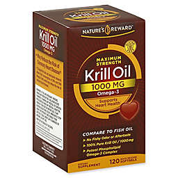 Nature's Reward 120-Count 1000 mg Maximum Strength Krill Oil Quick Release Softgels