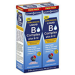 Nature's Reward 2-Pack 2 fl. oz. B Complex Plus B-12 Sublingual Liquid in Natural Berry Flavor
