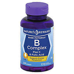 Nature's Reward 170-Count High Potency B-Complex Plus Vitamin C & Folic Acid Coated Caplets