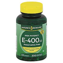 Nature's Reward 200-Count High Potency Vitamin E-400 Quick Release Softgels