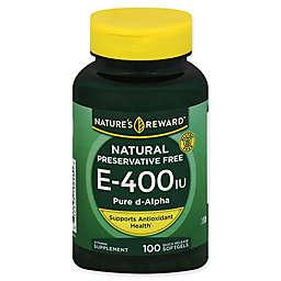 Nature's Reward 100-Count Vitamin E 400 IU Quick Release Softgels