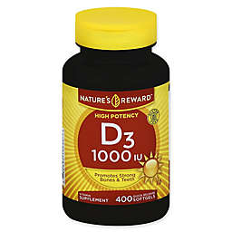 Nature's Reward 400-Count High Potency 1000 IU Vitamin D3 Quick Release Softgels