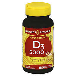 Nature's Reward 180-Count Super Potency 5000 IU Vitamin D3 Quick Release Softgels