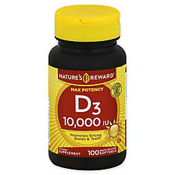 Nature's Reward 100-Count Max Potency 10,000 IU Vitamin D Quick Release Softgels