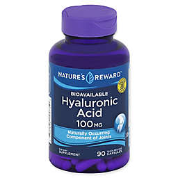 Nature's Reward 90-Count 100 mg Bioavailable Hyaluronic Acid Quick Release Capsules