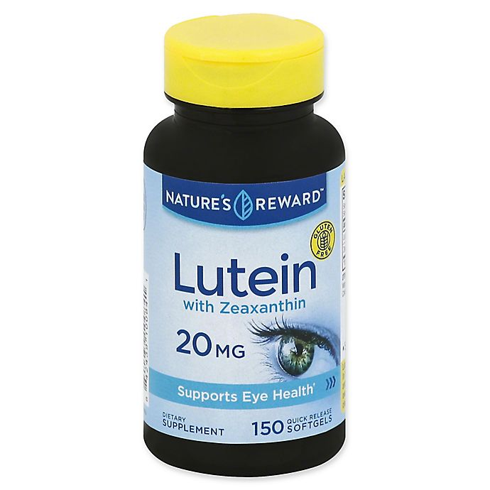 Alternate image 1 for Nature's Reward 150-Count 20 mg Lutein with Zeaxanthin Quick Release Softgels