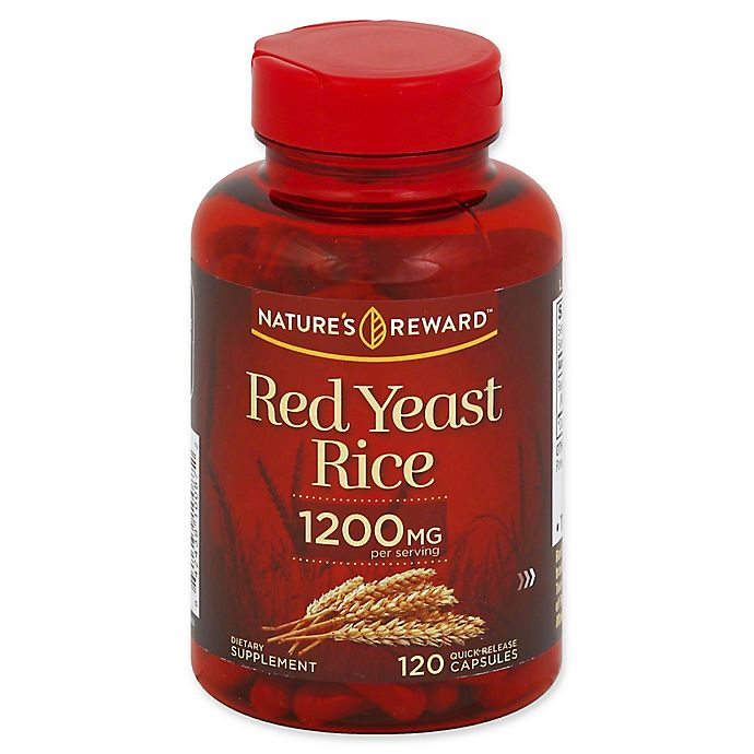 Alternate image 1 for Nature's Reward 120-Count 1200 mg Red Yeast Rice Quick Release Capsules