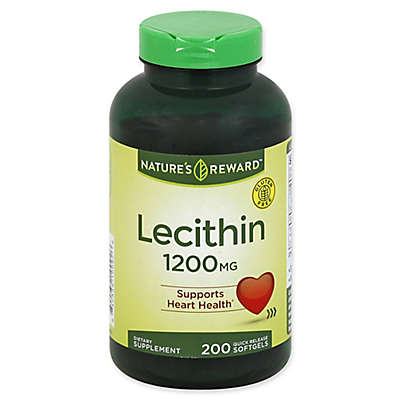 Nature's Reward 200-Count 1200 mg Lecithin Quick Release Softgels