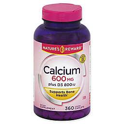 Nature's Reward 360-Count 600 mg Calcium Plus Vitamin D Coated Caplets