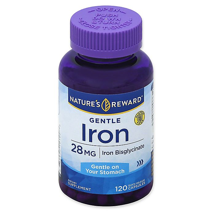 Alternate image 1 for Nature's Reward 120-Count 28 mg Gentle Iron Quick Release Capsules