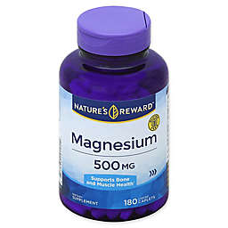 Nature's Reward 180-Count 500 mg Magnesium Coated Caplets