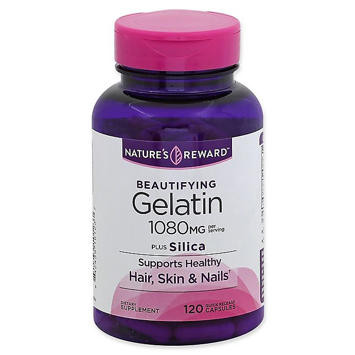 Alternate image 1 for Nature's Reward 120-Count 1080 mg Beautifying Gelatin Plus Silica Quick Release Capsules