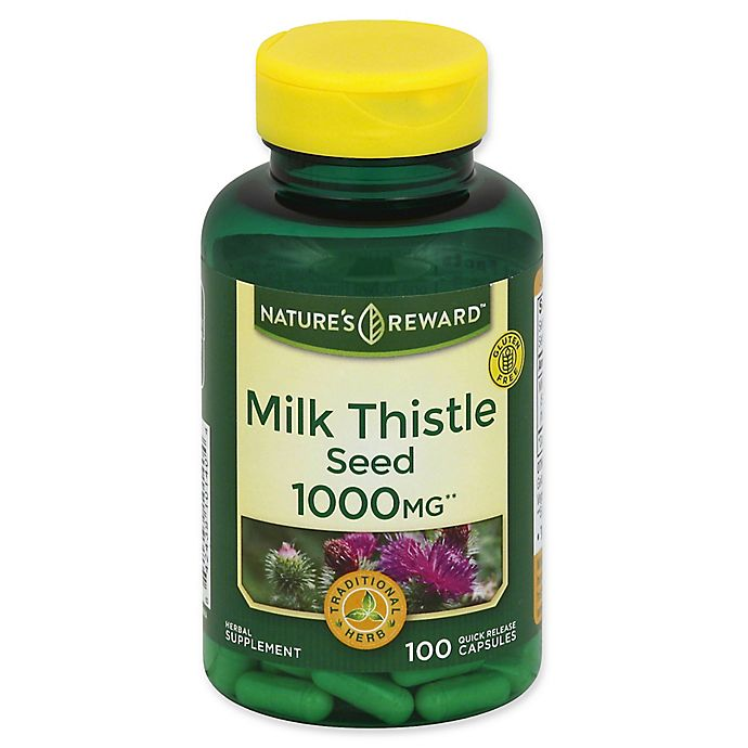 Alternate image 1 for Nature's Reward 100-Count 1000 mg Milk Thistle Seed Quick Release Capsules