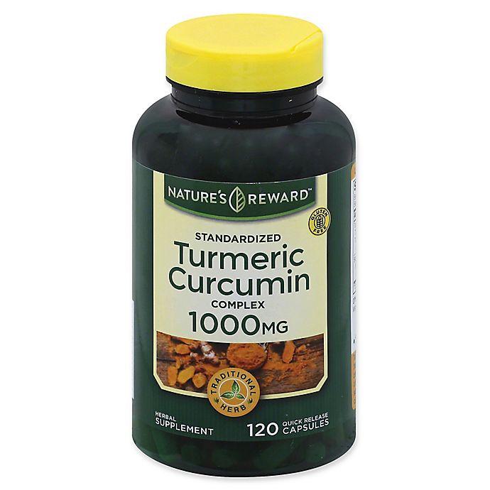 Alternate image 1 for Nature's Reward™ 120-Count 1000 mg Turmeric Curcumin Complex Quick Release Capsules