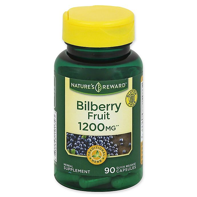 Alternate image 1 for Nature's Reward 90-Count 1200 mg Bilberry Fruit Quick Release Capsules