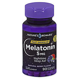 Nature's Reward™ 90-Count 5 mg Melatonin Fast Dissolve Tablets in Natural Berry Flavor