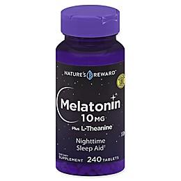 Nature's Reward™ 240-Count 10 mg Melatonin Plus L-Theanine Tablets