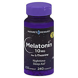 Nature's Reward™ 240-Count 10 mg Melatonin Plus L-Theanine Tablets
